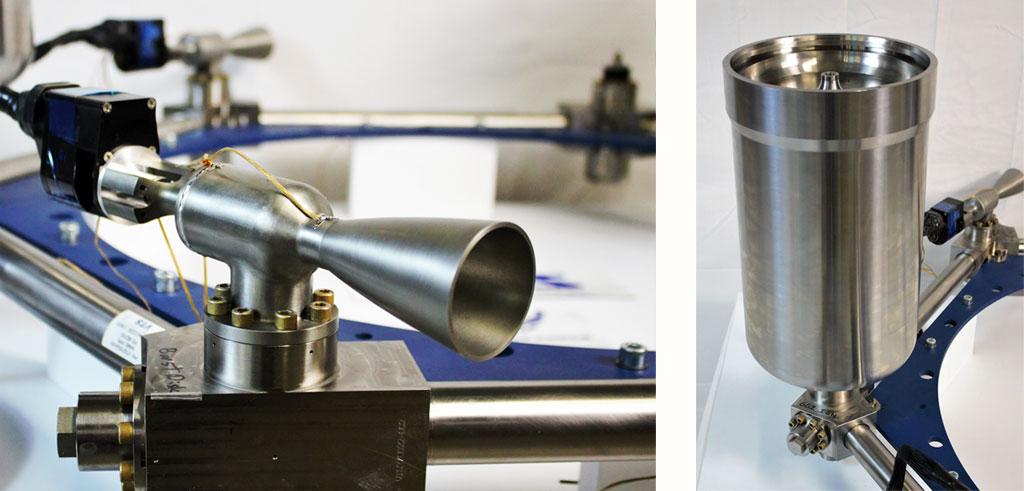 VTS closeup multi-thruster and gas generator